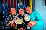 Pictured on Monday in Sean Og's were Emma Prenderville, Chelsea Conway (Tralee) and Brian McCarthy (Fenit).