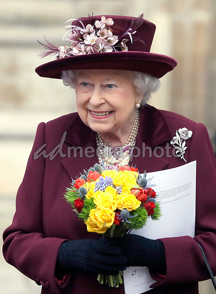 12 March 2018 - Queen Elizabeth II at the Commonwealth Service held at Westminster Abbey in London on Commonwealth Day. Photo Credit: ALPR/AdMedia