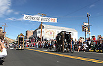 The Haunted Outhouse team defeats Porta Party during the first round of Outhouse Races in Virginia City, Nev, on Saturday, Oct. 1, 2011. Competition continues Sunday at noon..Photo by Cathleen Allison