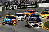 2017 Monster Energy NASCAR Cup Series<br /> STP 500<br /> Martinsville Speedway, Martinsville, VA USA<br /> Sunday 2 April 2017<br /> Kyle Busch, M&M's Toyota Camry, Chase Elliott<br /> World Copyright: Scott R LePage/LAT Images<br /> ref: Digital Image lepage-170402-mv-5272