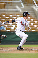 Glendale Desert Dogs first baseman Max Kepler (16), of the Minnesota Twins organization, during an Arizona Fall League game against the Peoria Javelinas on October 14, 2013 at Camelback Ranch Stadium in Glendale, Arizona.  Glendale defeated Peoria 5-1.  (Mike Janes/Four Seam Images)