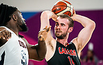 Lee Melymick, Lima 2019 - Wheelchair Basketball // Basketball en fauteuil roulant.<br /> Canada takes on the USA in the gold medal game in men's wheelchair basketball // Le Canada affronte les États-Unis dans le match pour la médaille d'or en basketball en fauteuil roulant masculin. 31/08/2019.