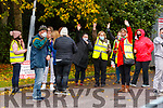 Former Debenhams workers jubilant after a truck turned away from the Tralee shop on Wednesday.