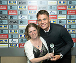St Johnstone Player of the Year Awards Season 2018/2019, Dewars Centre, Perth 18.05.19<br />St Johnstone Disabled Supporters Association Player of the Year Award is presented to Jason Kerr by Linsey Reid<br />Picture by Graeme Hart.<br />Copyright Perthshire Picture Agency<br />Tel: 01738 623350  Mobile: 07990 594431