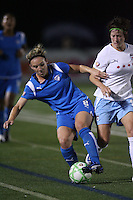 Amy Rodriguez (#8) shields Megan Rapinoe from the ball. The Boston Breakers defeated the Chicago Red Stars 1-0, at Harvard Stadium, in Cambridge, MA, Wednesday, July 15, 2009.
