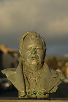 John Logie Baird bust, Helensburgh, Argyll & Bute. John Logie Baird was born in Helensburgh in 1888 and invented the television.<br /> <br /> Copyright www.scottishhorizons.co.uk/Keith Fergus 2011 All Rights Reserved