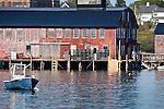 The fishing village of Jonesport, Downeast, ME, USA