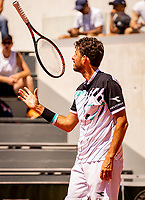 Paris, France, 2 june, 2019, Tennis, French Open, Roland Garros, Mens doubles : Robin Haase (NED) plays with his racket<br /> Photo: Henk Koster/tennisimages.com