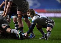 5th February 2021; Ashton Gate Stadium, Bristol, England; Premiership Rugby Union, Bristol Bears versus Sale Sharks; Fas De Klerk of Sale Sharks prepares to kick