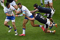 Carlo Canna (L), Mattia Bellini of Italy (2L), Stuart Hogg and Blade Thomson of Scotland during the rugby Autumn Nations Cup's match between Italy and Scotland at Stadio Artemio Franchi on November 14, 2020 in Florence, Italy. Photo Andrea Staccioli / Insidefoto