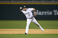 Charlotte Knights second baseman Danny Mendick (17) on defense against the Toledo Mud Hens at BB&T BallPark on April 23, 2019 in Charlotte, North Carolina. The Knights defeated the Mud Hens 11-9 in 10 innings. (Brian Westerholt/Four Seam Images)
