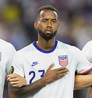 DALLAS, TX - JULY 25: Kellyn Acosta #23 of the United States during a game between Jamaica and USMNT at AT&T Stadium on July 25, 2021 in Dallas, Texas.