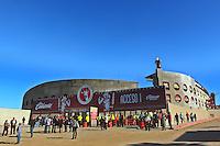 TIJUANA -MÉXICO, 10-04-2013. Vista panorámica del estadio Caliente del Tijuana durante el juego de la fase de grupos de la Copa Libertadores 2013 en el Estadio Caliente en Tijuana, Mexico./  Tijuana's Caliente stadium Panoramic view during match of the groups stage of Libertadores Cup 2013 at Caliente stadium in Tijuana, Mexico. Photo: Gonzalo Gonzalez /JAM MEDIA/VizzorImage
