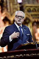 Pierre-Marc Johnson lors du Concert benefice au profit de Notre-Dame-de Paris, le 5 mai 2019<br /> <br /> PHOTO :  Agence Quebec Presse
