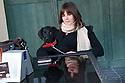 """Mèrcuris 11 de ghennàrgiu de su 2012 Marsaxlokk (Malta) <br /> Federica Di Felice est nàschida in Nùgoro in su 1989. Bivet in Malta dae su 2008 e, cando nos semus addobiados, fiat cameriera in su ristorante """"Madlena Cottage"""". Istaiat in sa tzitadedda de Marsaskala. In sa foto est in unu cafè de Marsaxlokk , paris cun su cane Ram. <br /> <br /> Mercoledì 11 gennaio 2012 Marsaxlokk (Malta) <br /> Federica Di Felice è nata a Nuoro nel 1989. Vive a Malta dal 2008 e, all'epoca del nostro incontro, lavorava come cameriera al """"Madlena Cottage"""", un ristorante. Abitava nella cittadina di Marsaskala. Nella foto è ritratta in un caffé di Marsaxlokk insieme al cane Ram. <br /> <br /> Wednesday 11 January 2012 Marsaxlokk (Malta) <br /> Federica Di Felice was born in Nuoro in 1989. She has been living in Malta since 2008 and, at the time of our meeting, worked as a waitress at the restaurant """"Madlena Cottage"""". She lived in the town of Marsaskala. In the photo she is portrayed in a coffee shop in Marsaxlokk together with the dog Ram."""