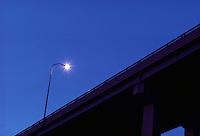 Highway street light.