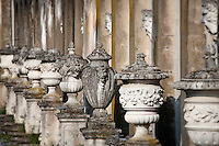 Ornate antique urns.urns.