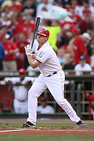June 18, 2008: Cincinnati Reds center fielder Jay Bruce (32) at The Great American Ballpark in Cincinnati, OH.  Photo by:  Chris Proctor/Four Seam Images