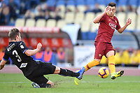 Joachim Andersen of Sampdoria  and Stephan El Shaarawy of AS Roma compete for the ball during the Serie A 2018/2019 football match between AS Roma and UC Sampdoria at stadio Olimpico, Roma, November, 11, 2018 <br />  Foto Andrea Staccioli / Insidefoto