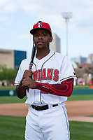 Indianapolis Indians third baseman Ke'Bryan Hayes (24) poses for a photo before an International League game against the Columbus Clippers at Victory Field on April 29, 2019 in Indianapolis, Indiana. (Zachary Lucy/Four Seam Images)