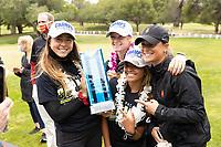 STANFORD, CA - APRIL 25: Malia Nam, Amelia Garvey, Brianna Navarrosa, Kaite Woodruff at Stanford Golf Course on April 25, 2021 in Stanford, California.