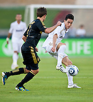 LOS ANGELES, CA – July 16, 2011: Jose Callejon (21) of Real Madrid  during the match between LA Galaxy and Real Madrid at the Los Angeles Memorial Coliseum in Los Angeles, California. Final score Real Madrid 4, LA Galaxy 1.