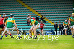 Brandon Barrett, Kerry in action against Liam Savage, Down during the National hurling league between Kerry v Down at Austin Stack Park, Tralee on Sunday.