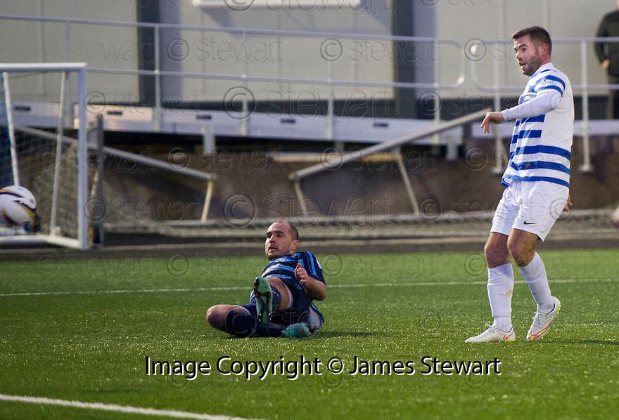 Morton's Peter MacDonald scores their second goal.