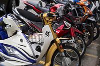 Parked Motorbikes, Ipoh, Malaysia.