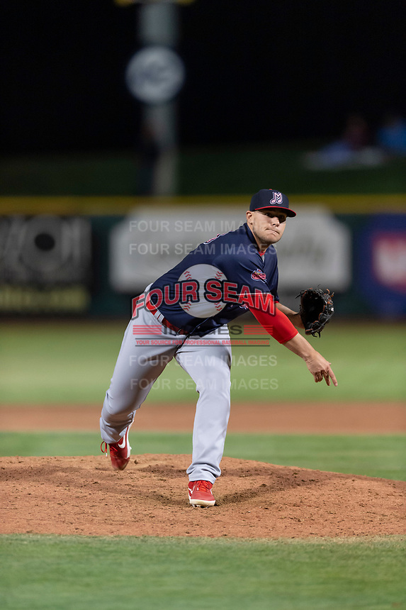 Memphis Redbirds relief pitcher Ryan Meisinger (23) during a Pacific Coast League game against the Omaha Storm Chasers on April 26, 2019 at Werner Park in Omaha, Nebraska. Memphis defeated Omaha 7-3. (Zachary Lucy/Four Seam Images)
