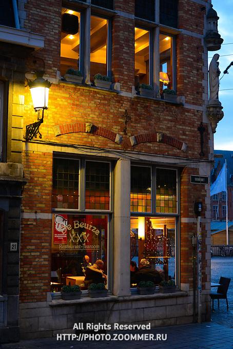 De Beurze Restaurand And Tearoom In Brugge near Market Square, Belgium