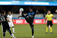 SAN JOSE, CA - SEPTEMBER 16: Jacob Akanyirige plays he ball during a game between Portland Timbers and San Jose Earthquakes at Earthquakes Stadium on September 16, 2020 in San Jose, California.