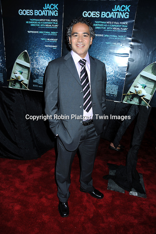 """actor John Ortiz arriving at the Premiere of """"Jack Goes Boating"""" on September 16, 2010 at The Paris Theatre in New York City."""
