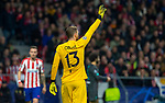 Atletico de Madrid's Jan Oblak  during UEFA Champions League match, round of 16 first leg between Atletico de  Madrid and Liverpool FC at Wanda Metropolitano Stadium in Madrid, Spain. February Tuesday 18, 2020.(ALTERPHOTOS/Manu R.B.)
