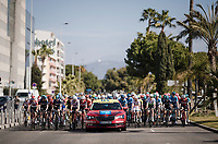 peloton rolling through Nice during the neutralised start section<br /> <br /> Stage 7: Nice to Col de Turini (181km)<br /> 77th Paris - Nice 2019 (2.UWT)<br /> <br /> ©kramon