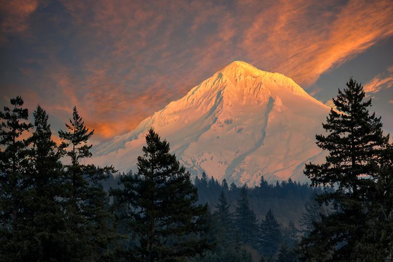 Mt. Hood with snow, Oregon