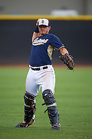 San Diego Padres Kyle Overstreet (17) during practice before an instructional league game against the Milwaukee Brewers on October 6, 2015 at the Peoria Sports Complex in Peoria, Arizona.  (Mike Janes/Four Seam Images)