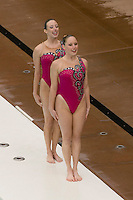 2 February 2008: Courtenay Stewart and Sara Lowe during Stanford's 90-69 win over Alabama-Birmingham at the Avery Aquatic Center in Stanford, CA.