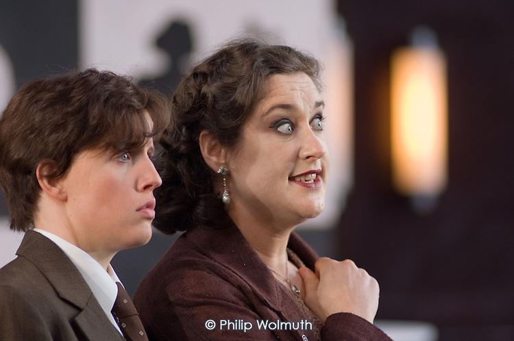 Cora Burggraaf and Orla Boylan in a performance of Arabella, by Richard Strauss, at Garsington Manor, Oxfordshire.