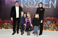 """Guy Ritchie, Jaqui Ainsley and family<br /> arriving for the """"Frozen 2"""" premiere at the BFI South Bank, London.<br /> <br /> ©Ash Knotek  D3537 17/11/2019"""