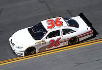 Feb 07, 2009; Daytona Beach, FL, USA; NASCAR Sprint Cup Series driver Scott Riggs during practice for the Daytona 500 at Daytona International Speedway. Mandatory Credit: Mark J. Rebilas-