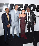 Chris Ludacris Bridges ,Dwayne Johnson,Michelle Rodriguez and Tyrese Gibson attends The Universal Pictures World Premiere of Furious 7 held at The TCL Chinese Theatre IMAX Theater  in Hollywood, California on April 01,2015                                                                               © 2015 Hollywood Press Agency