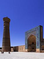 Kalon Moschee und Minarett, Buchara, Usbekistan, Asien, UNESCO-Weltkulturerbe<br /> Kalon Mosque and minaret, Historic City of Bukhara, Uzbekistan, Asia, UNESCO Heritage Site