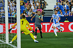 Leganes' Ivan Cuellar (l) and Daniel Ojeda (r) and Real Sociedad's Joseba Zaldua during La Liga match. August 24, 2018. (ALTERPHOTOS/A. Perez Meca)
