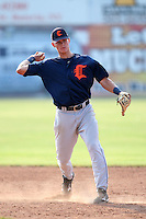 Connecticut Tigers shortstop Brett Anderson (14) during a game vs. the Batavia Muckdogs at Dwyer Stadium in Batavia, New York July 8, 2010.   Connecticut defeated Batavia 4-2 in extra innings.  Photo By Mike Janes/Four Seam Images