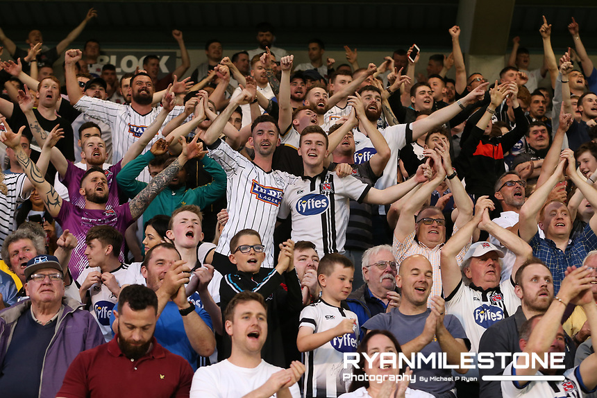 SSE Airtricity League Premier Division<br /> Shamrock Rovers vs Dundalk<br /> Friday 28th June 2019,<br /> Tallaght Stadium, Dublin<br /> <br /> Dundalk fans celebrate at the end of the game<br /> <br /> Mandatory Credit: Michael P Ryan