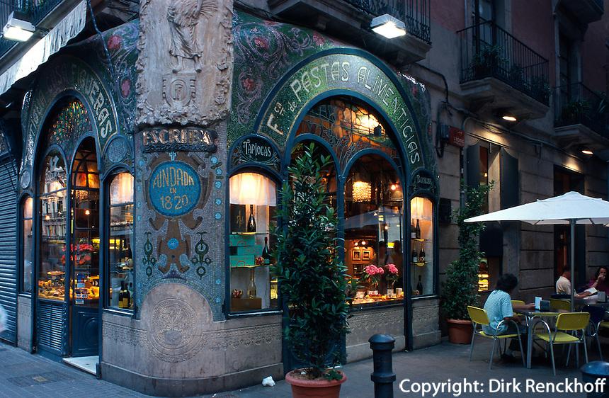 La Rambla, Antigua Casa Figueras, Barcelona, Spanien