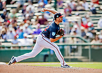 25 February 2019: Atlanta Braves pitcher Jesse Biddle on the mound during a pre-season Spring Training game against the Washington Nationals at Champion Stadium in the ESPN Wide World of Sports Complex in Kissimmee, Florida. The Braves defeated the Nationals 9-4 in Grapefruit League play in what will be their last season at the Disney / ESPN Wide World of Sports complex. Mandatory Credit: Ed Wolfstein Photo *** RAW (NEF) Image File Available ***