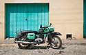 27/07/18<br /> <br /> MZ motorcycle from the Eastern Bloc,  Trinidad, Cuba.<br /> <br /> All Rights Reserved, F Stop Press Ltd. (0)1335 344240 +44 (0)7765 242650  www.fstoppress.com rod@fstoppress.com