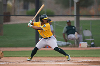AZL Athletics shortstop Cobie Vance (16) at bat during an Arizona League game against the AZL Athletics at Camelback Ranch on July 15, 2018 in Glendale, Arizona. The AZL White Sox defeated the AZL Athletics 2-1. (Zachary Lucy/Four Seam Images)